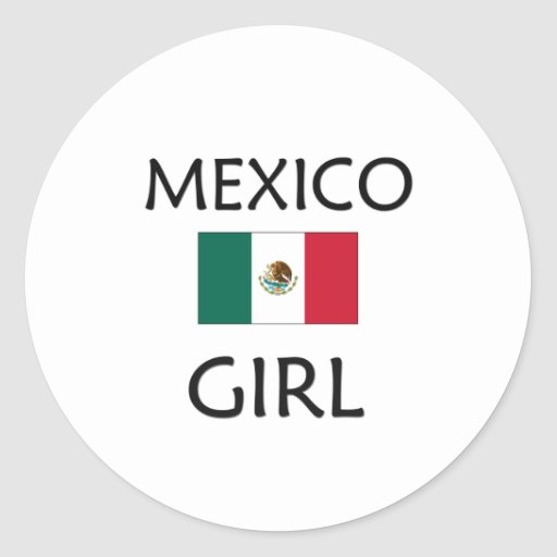 MEXICO GIRL CLASSIC ROUND STICKER
