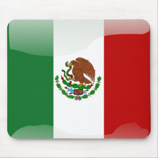 Mexico glossy flag mouse pad