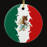 Mexico Gnarly Flag Ceramic Ornament