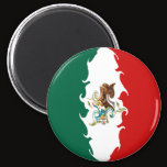 Mexico Gnarly Flag Magnet