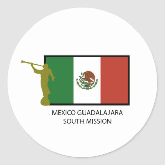 MEXICO GUADALAJARA SOUTH MISSION LDS CTR CLASSIC ROUND STICKER