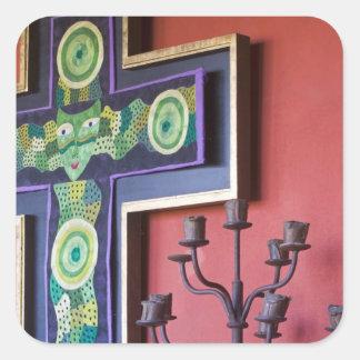 Mexico, Guanajuato state, San Miguel. Casa de la 2 Square Sticker
