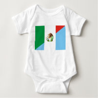 mexico guatemala half flag country symbol baby bodysuit