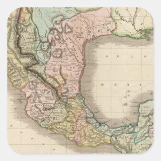 Mexico, Guatemala Square Sticker