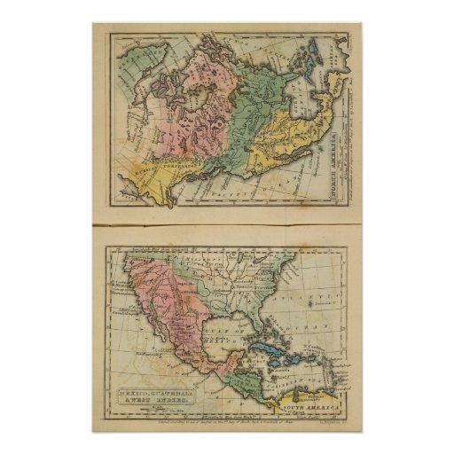 México, Guatemala, WI, Norteamérica Póster