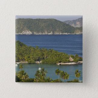 Mexico, Guerrero, Zihuatanejo. Playa Las Gatas- Pinback Button