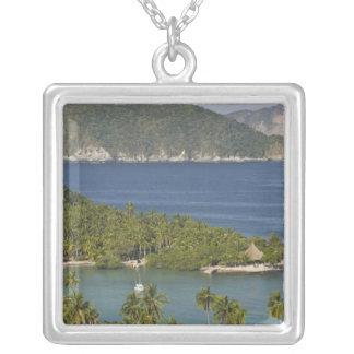 Mexico, Guerrero, Zihuatanejo. Playa Las Gatas- Silver Plated Necklace