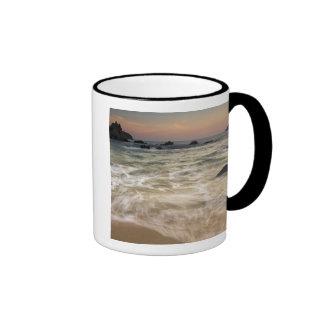 Mexico, Guerrero, Zihuatanejo.  Surf along a Mug