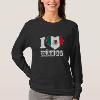Mexico Heart black Long Sleeve for Women T-Shirt