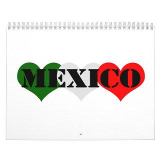 Mexico Heart Calendar