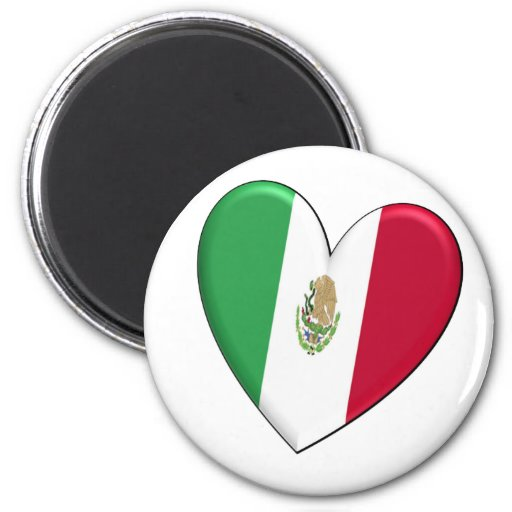 Mexico Heart Flag Magnet