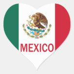 Mexico Heart Heart Sticker