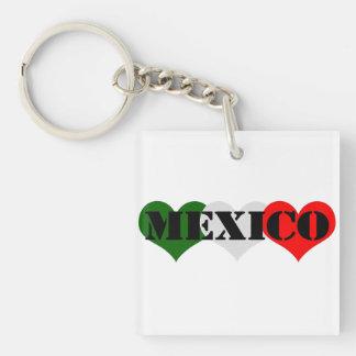 Mexico Heart Keychain