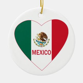 Mexico Heart Ornament