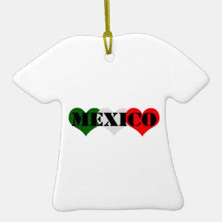 Mexico Heart Christmas Ornament
