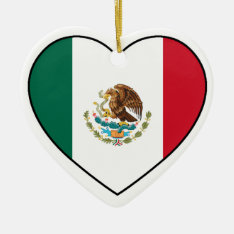 Mexico Heart Ornament for Christmas Tree at Zazzle