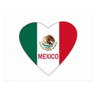 Mexico Heart Postcard
