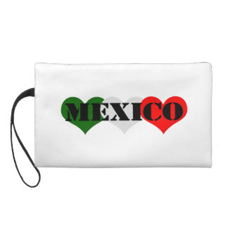Mexico Heart Wristlet Purse