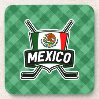 Mexico Ice Hockey Flag Drinks Mats Beverage Coaster