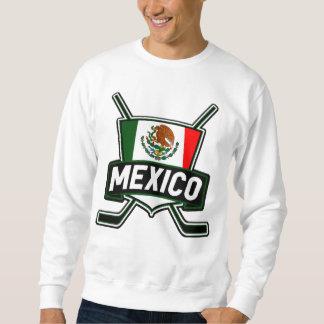 Mexico Ice Hockey Flag Pullover Sweatshirt