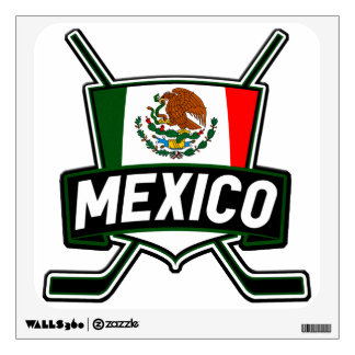 Mexico Ice Hockey Flag Wall Sticker