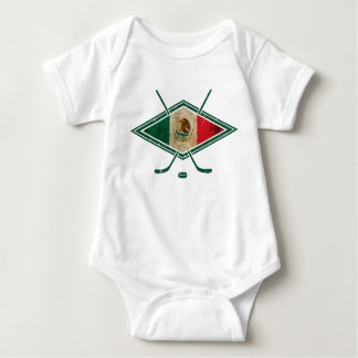 Mexico Ice Hockey Logo Baby Bodysuit