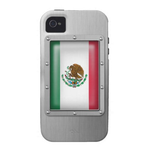 Mexico in Stainless Steel Vibe iPhone 4 Cases