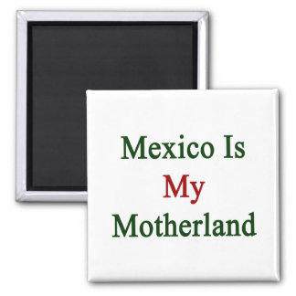 Mexico Is My Motherland 2 Inch Square Magnet