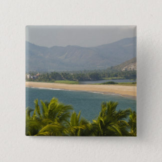 Mexico, Jalisco, Barra de Navidad. Town Beach Button