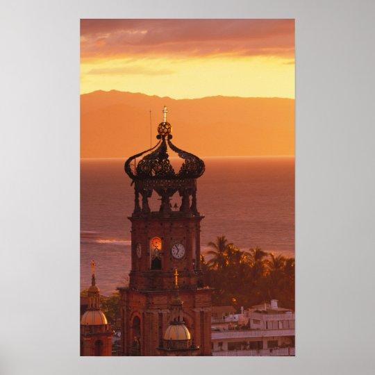 Mexico, Jalisco, Puerto Vallarta. Church tower Poster