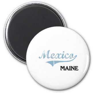 Mexico Maine City Classic 2 Inch Round Magnet