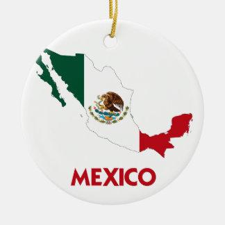 MEXICO MAP CERAMIC ORNAMENT
