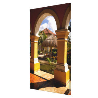 Mexico Mayan Riviera architecture at Iberostar Gallery Wrapped Canvas