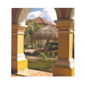 Mexico, Mayan Riviera, architecture at Iberostar Notepad