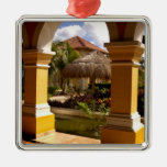 Mexico, Mayan Riviera, architecture at Iberostar Square Metal Christmas Ornament