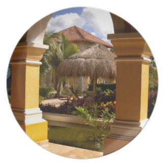 Mexico, Mayan Riviera, architecture at Iberostar Party Plate