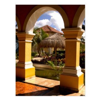 Mexico, Mayan Riviera, architecture at Iberostar Postcard