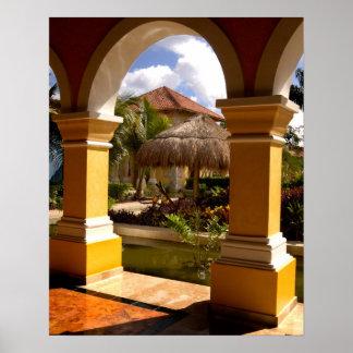 Mexico, Mayan Riviera, architecture at Iberostar Poster