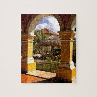 Mexico, Mayan Riviera, architecture at Iberostar Jigsaw Puzzles
