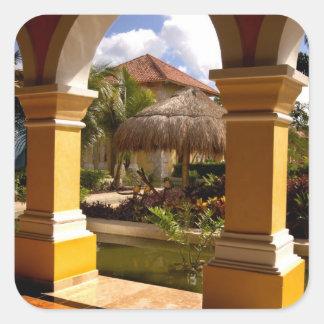 Mexico, Mayan Riviera, architecture at Iberostar Square Sticker