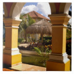 Mexico, Mayan Riviera, architecture at Iberostar Tile
