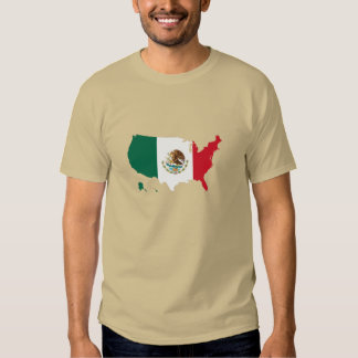 Mexico Mexican flag in USA united states Shirt