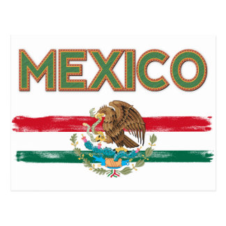 Mexico Mexican Flag Postcard