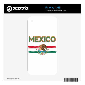 Mexico Mexican Flag Skin For iPhone 4S