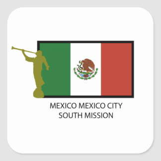 MEXICO MEXICO CITY SOUTH MISSION CTR LDS SQUARE STICKERS