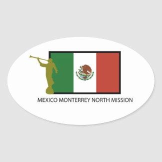MEXICO MONTERREY NORTH MISSION LDS CTR OVAL STICKER