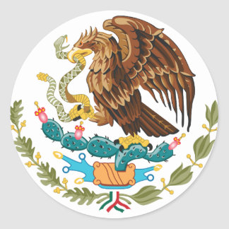 Mexico MX Classic Round Sticker