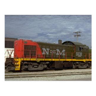 Mexico, N De M Alco RS-1 diesel Postcard