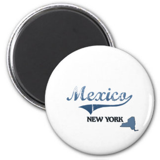 Mexico New York City Classic 2 Inch Round Magnet