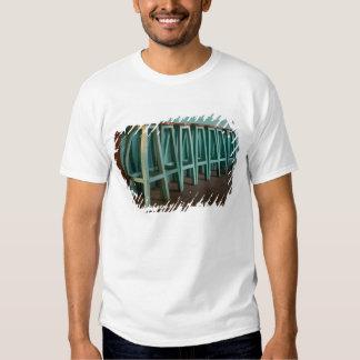 Mexico, Oaxaca, Green Bar Stools line wall Tee Shirt